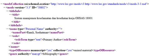 Cantuman Bibliografis Slims dalam format XML