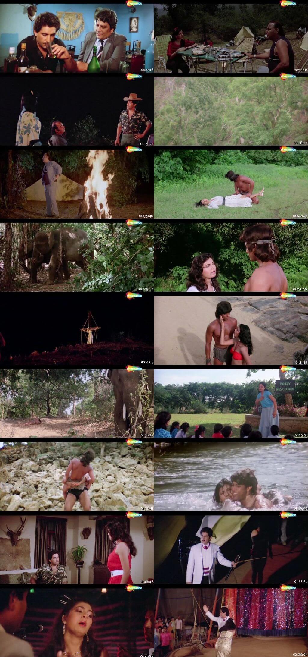 Screen Shot Of Adventures of Tarzan 1985 300MB HDRip 480P Full Hindi Movie Watch Online Free Download