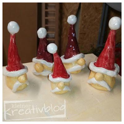www.kleiner-kreativblog.de: Weihnachtliche Töpfersachen