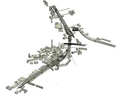 FSW_Bild1-Tunnelmodell_mit_Gebaeuden_im_Nahbereich