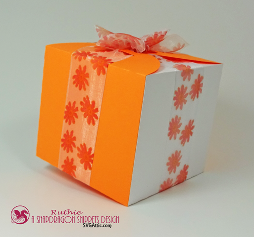 Ribbon wrap box - SnapoDragon Snippets - Ruthie Lopez - My Hobby My Art