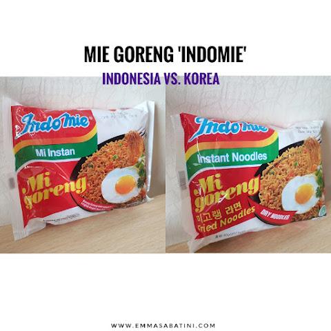 Mie Goreng 'Indomie' Indonesia versus Korea