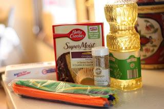 Pot of Gold Cupcake ingredients