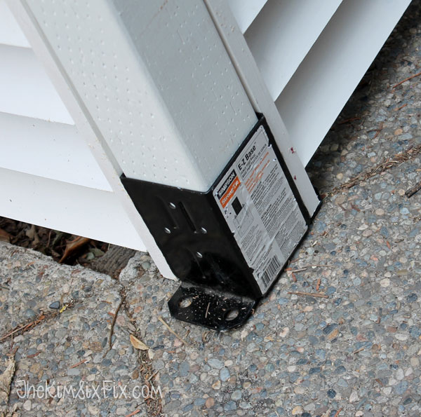How to secure posts to concrete