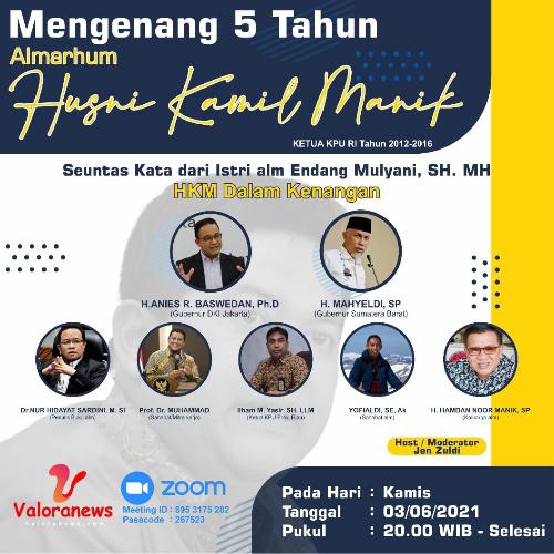Haul ke 5 Husni Kamil Manik, 5 Pembicara Bakal Berbagi Kenangan Secara Daring, Ada Anies Baswedan dan Buya Mahyeldi