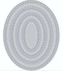 scallop oval stitched die