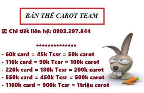 Hình ảnh carot in [DỊCH VỤ] Đổi thẻ Carot, Bán thẻ Carot giá ưu đãi