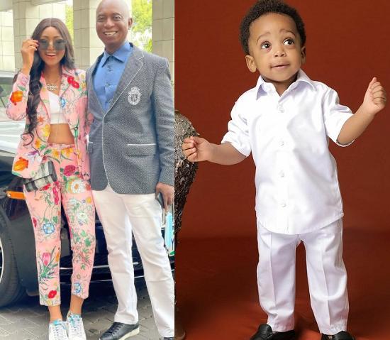 Regina Daniels and her billionaire husband, Ned Nwoko celebrate their son, Munir on his first birthday (photos)