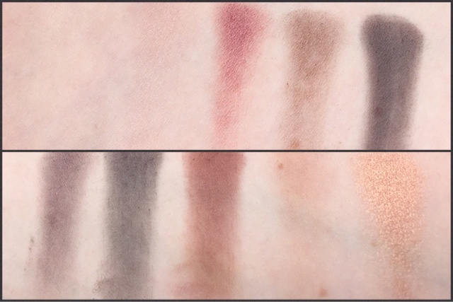 brush swatches of the zoeva cocoa blend palette