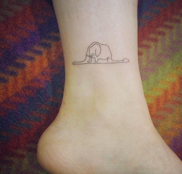 Esta linha contínua elefante