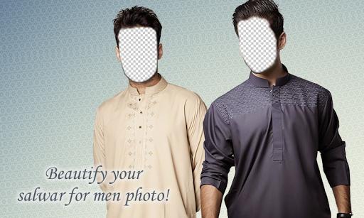 Man Salwar Suit Photo Montage