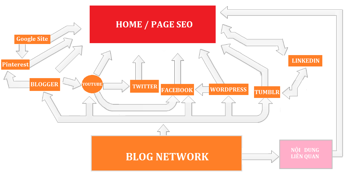 Entity SEO website - Mô Hình Trust Link Building