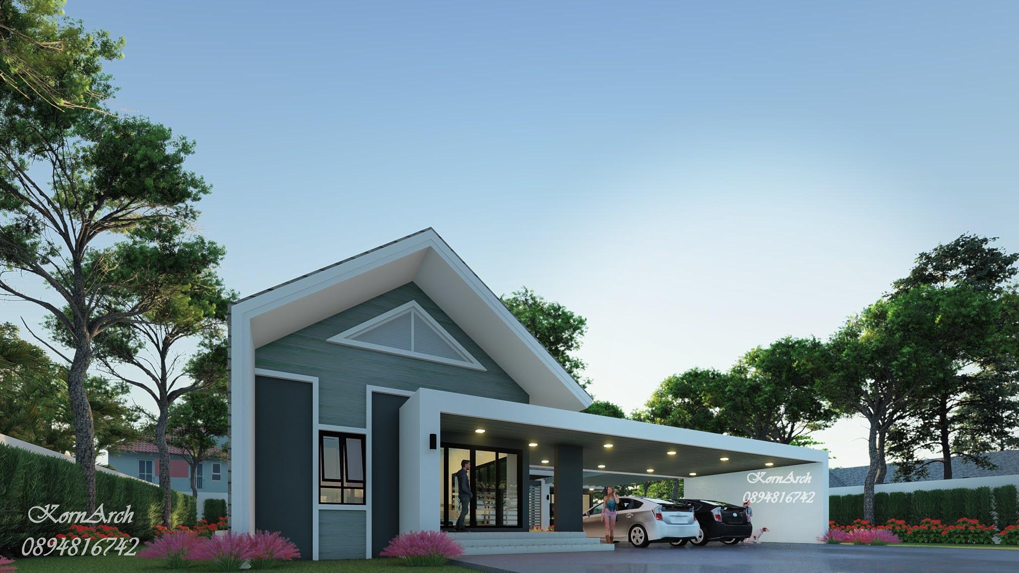 รับออกแบบบ้านชั้นเดียว สถาปนิก 0894816742
