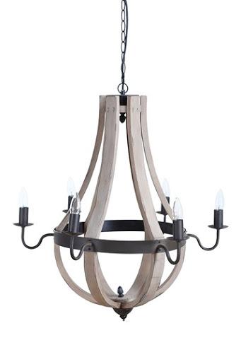 Superb wood chandelier