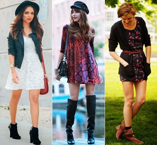 vestidos com bota no inverno
