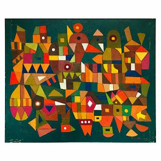Martin Rosenthal Signed Modernist Geometric Oil Painting