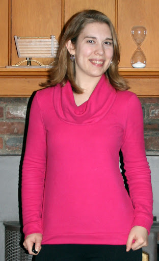 Sewaholic Renfrew top, long sleeve cowl version (heavyweight french terry)