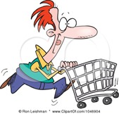 1046904-Royalty-Free-RF-Clip-Art-Illustration-Of-A-Cartoon-Man-Pushing-A-Shopping-Cart