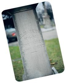 Keen, Elizabeth, Tombstone