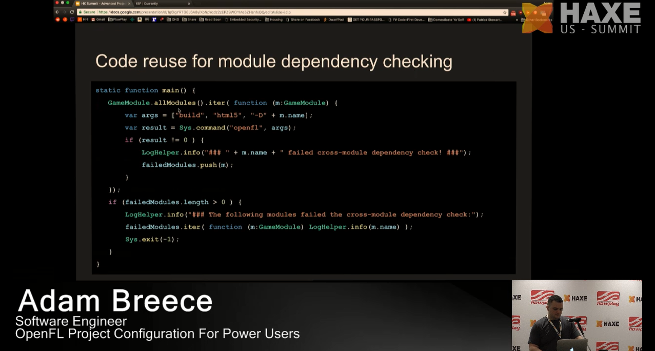 Code reuse for module dependency checking