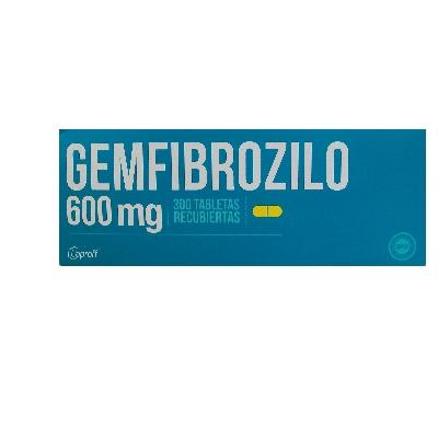 gemfibrozil gemfibrozilo 600mg blister 10tabletas laproff