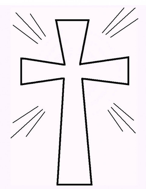 Cross Coloring Page