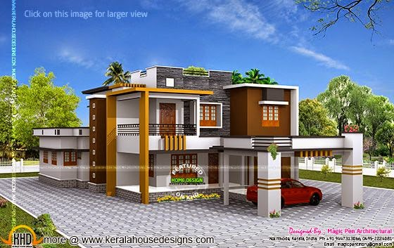 October 2014 kerala home design and floor plans for Kerala house design double floor