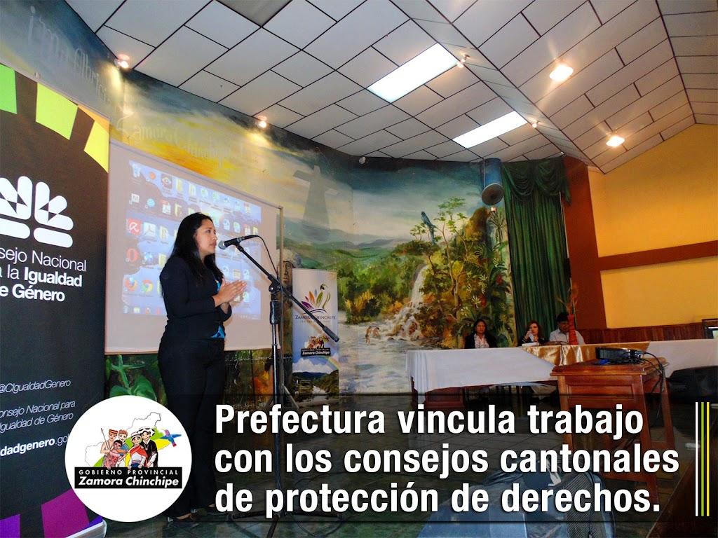 PREFECTURA VINCULA TRABAJO CON LOS CONSEJOS CANTONALES DE PROTECCIÓN DE DERECHOS.
