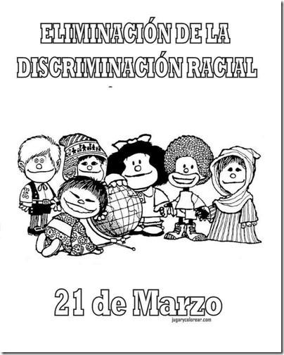 eliminacion discriminacion recial jugarycolorear (2)