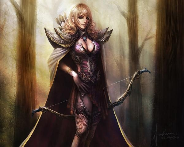 Archer Girl In Magic Old Wood, Magick Warriors 3