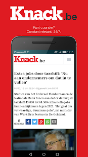 Knack.be- screenshot thumbnail
