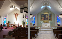 Before and After: St. Joseph's Chapel at St. Dominic's Parish in Brick, New Jersey