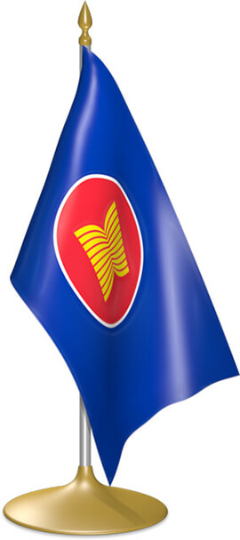 ASEAN table flags - desk flags