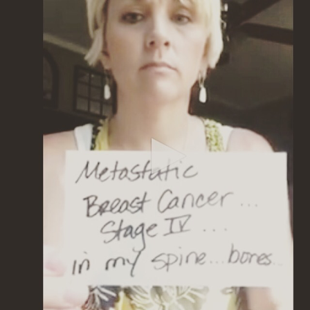 i hope you know what a huge impact your video made and still continues to make in educating others about metastatic breast cancer - Holley Kitchen