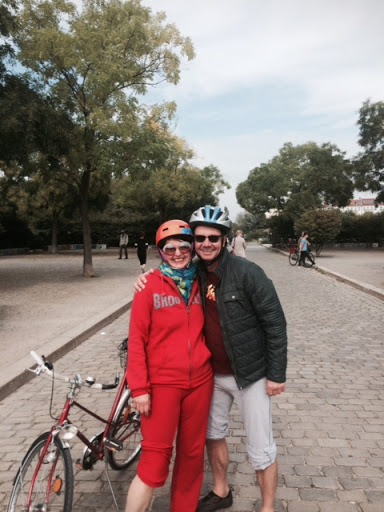 Bicycling through Berlin with my friend Cassis, film music composer and Berlin resident. An awesome way to soak in the city. From 5 Travel Habits That Instantly Change Your Mood