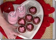 Cupcake dal cuore rosa