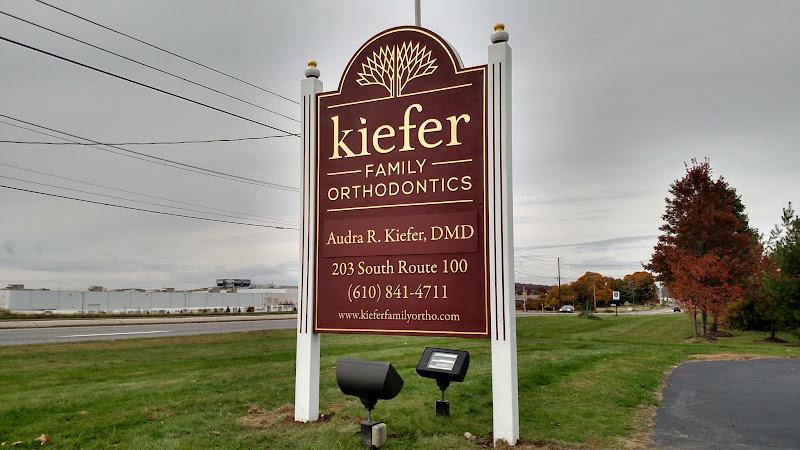 Sandblasted Sign - Kiefer Family Orthodontics
