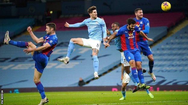 Stones Brace Seals Man City Wins Over Crystal Palace
