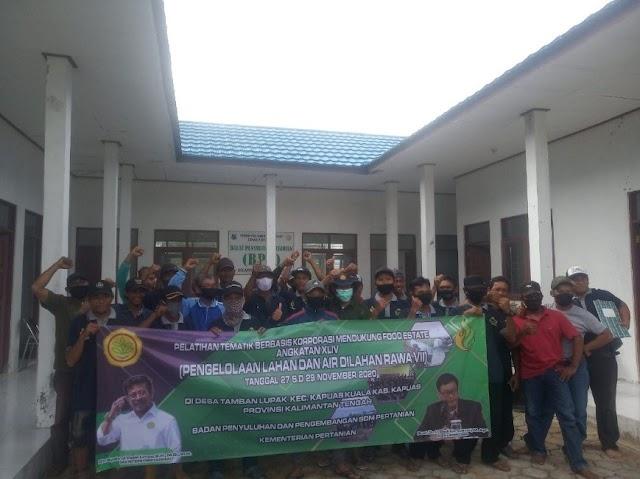 BBPP Binuang Gelar Pelatihan Pengelolaan Lahan dan Air Lahan Rawa di Kapuas Kuala
