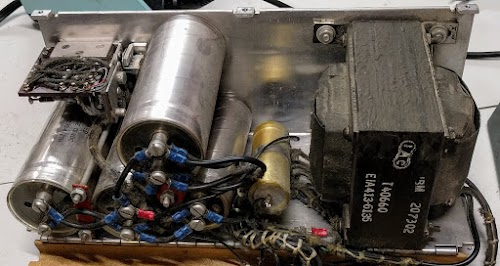 Inside the IBM 1401's -6V power supply.
