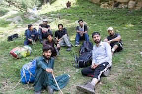 At the start of the trek from Jandrai village.