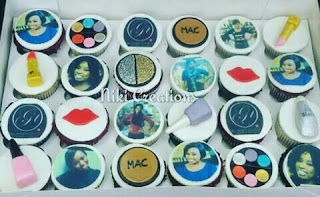 Edible image cup cakes