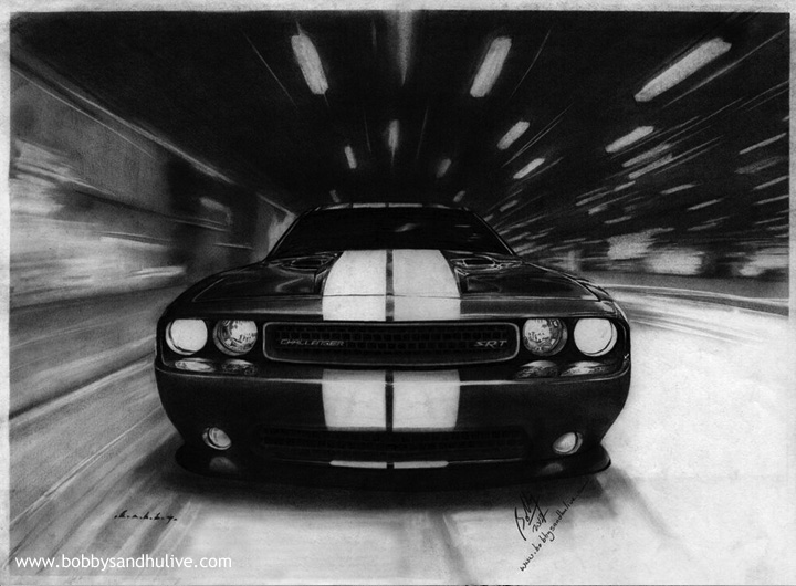 Dodge Challenger 2011 Car Drawing