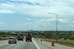 """Blick von Norden auf Denver - doch die Hauptstadt Colorados ließen wir im wahrsten Sinne """"links liegen"""" und fuhren Richtung Westen auf die Rockies zu."""