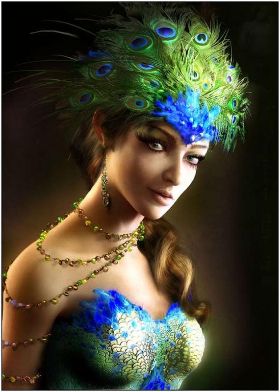 Women Portrait, Green Witches
