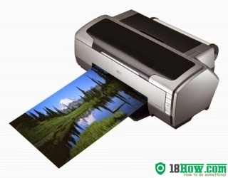 How to reset flashing lights for Epson R1800 printer