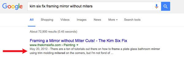 Search description not optimized