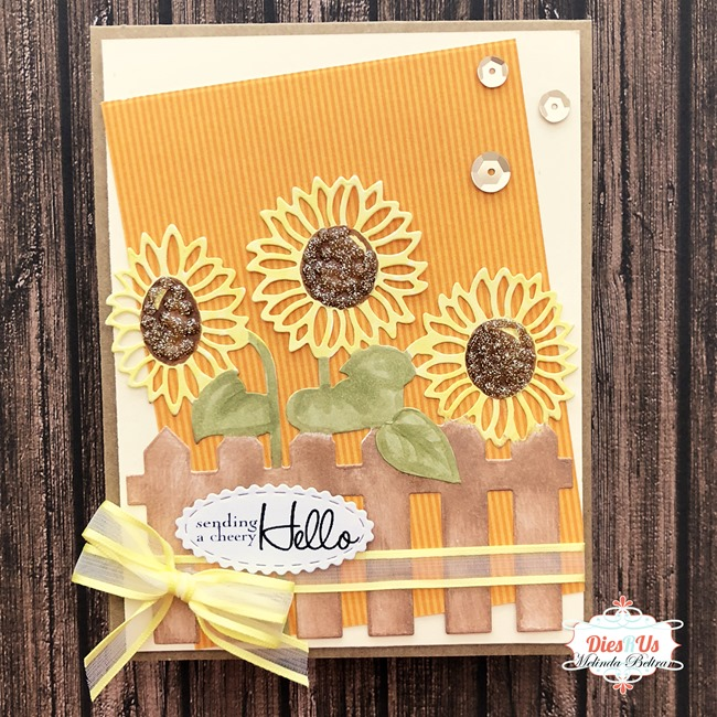 sunflower fence die card