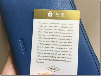 Fossil RFID Protected