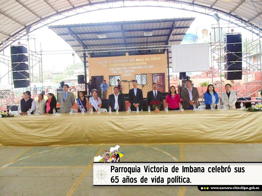 PARROQUIA VICTORIA DE IMBANA CELEBRÓ SUS 65 AÑOS DE VIDA POLÍTICA